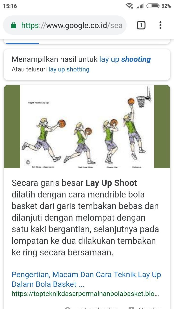 Jelaskan Apa Yg Dimaksud Dengan Lay Up Shooting Brainly Co Id