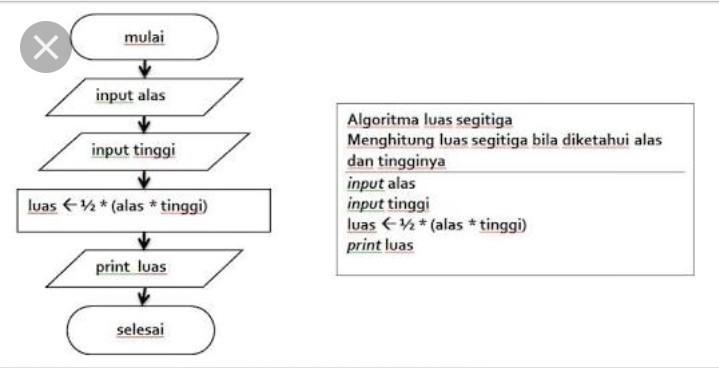 Buatlah Algoritme Menggunakkan Flowchart Untuk Menghitung Luas