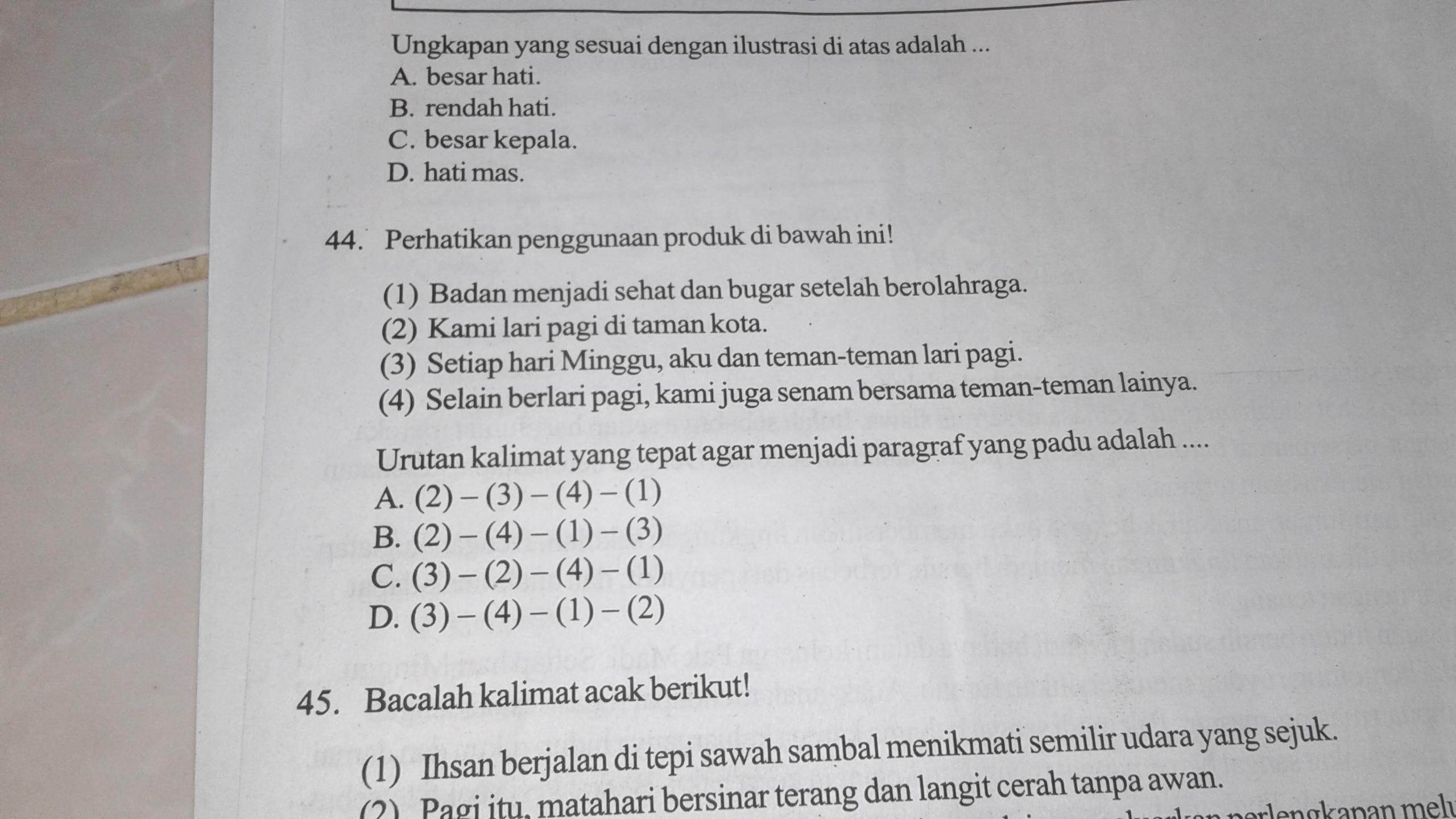 Tolong Dijawab Ya No 44 Brainly Co Id