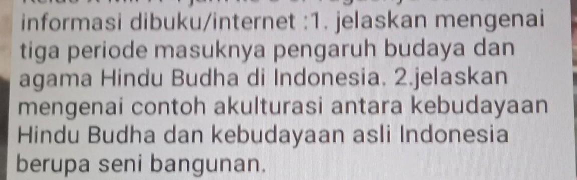 Tolong No 1 2 Sejarah Indonesia Brainly Co Id