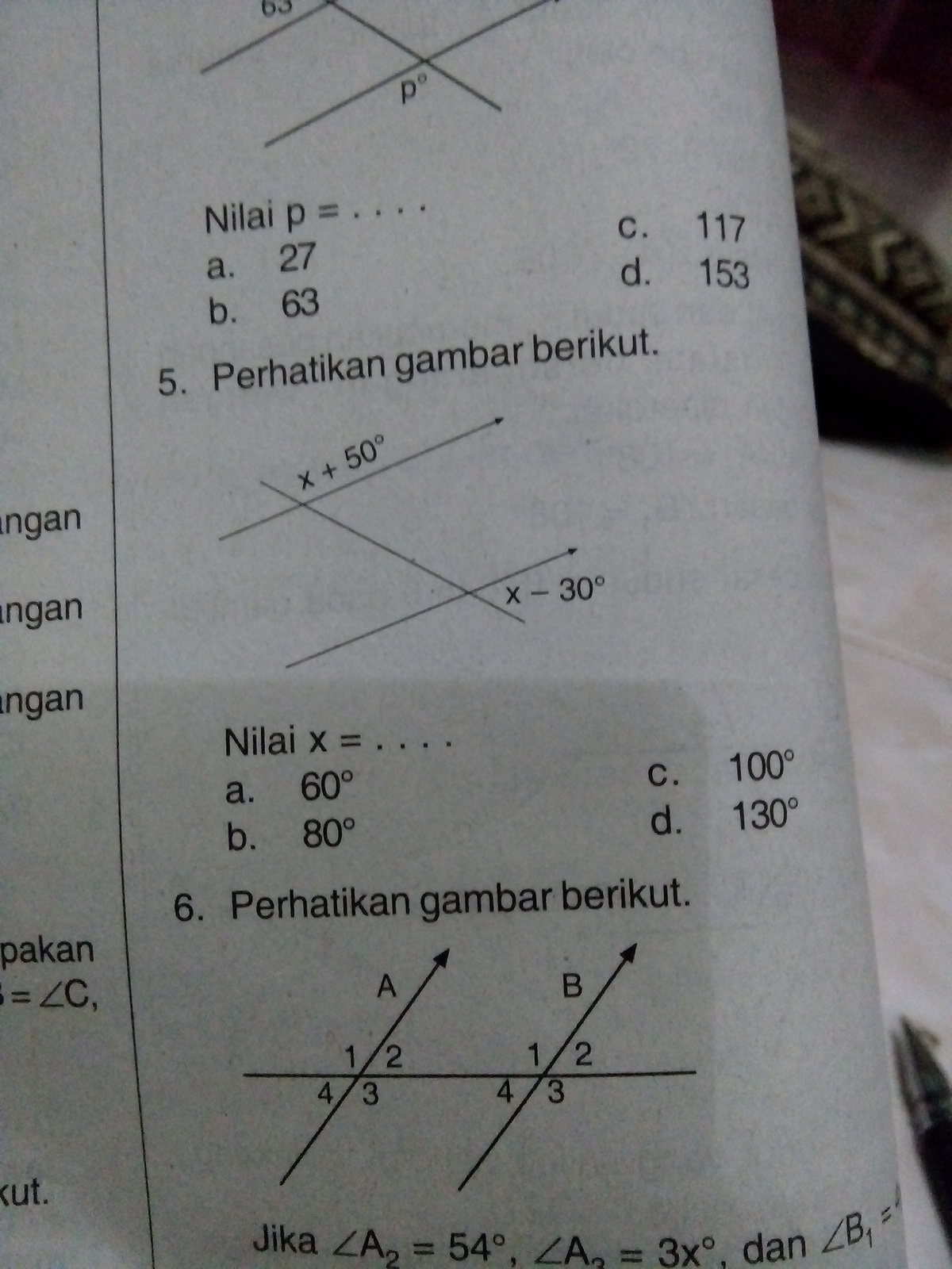 perhatikan gambar berikut. nilai x = - Brainly.co.id