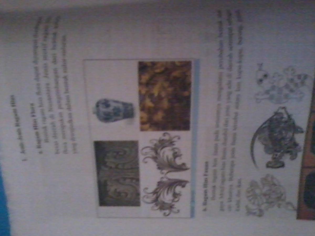 Berikan Contoh Gambar Motif Hias Fauna Flora Geometris Figuratif