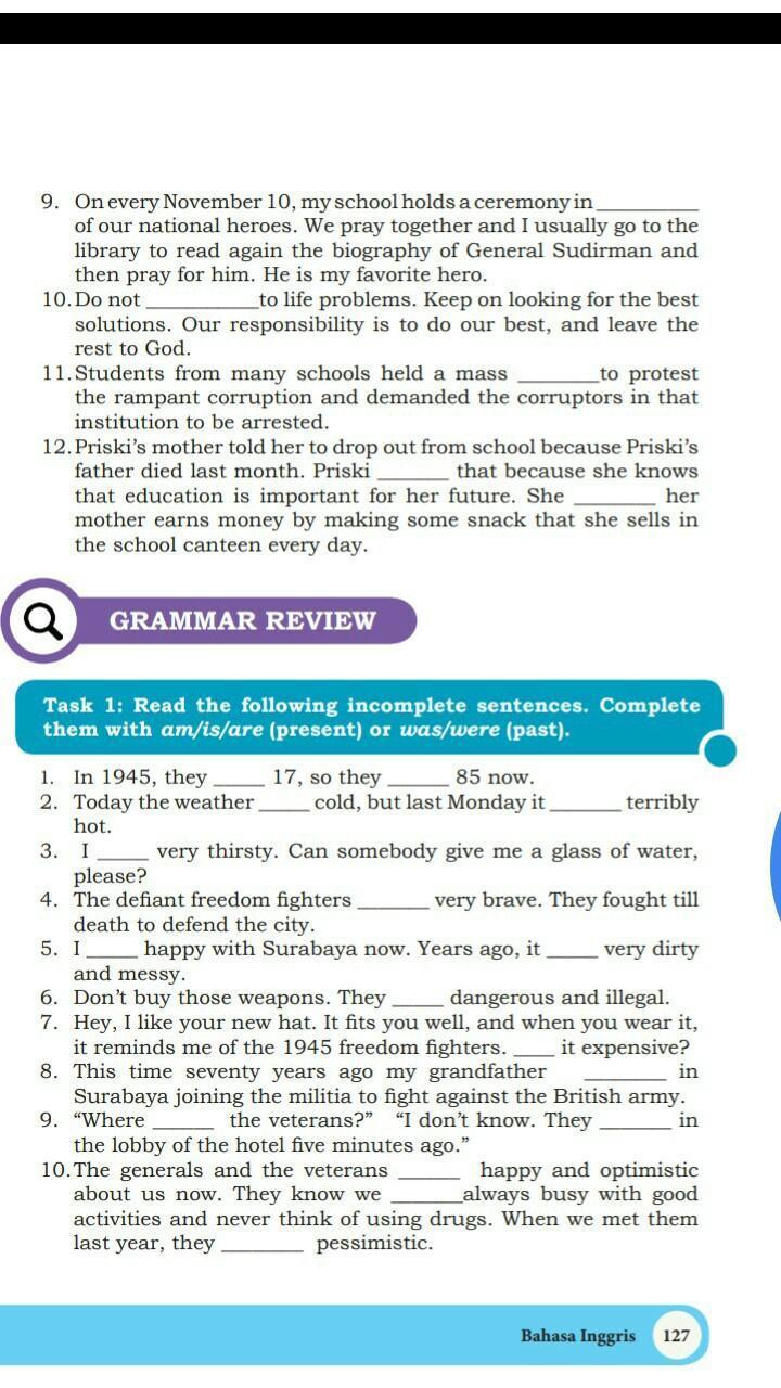 Jawaban Tugas Bahasa Inggris Kelas 10 Halaman 127 Brainly Co Id
