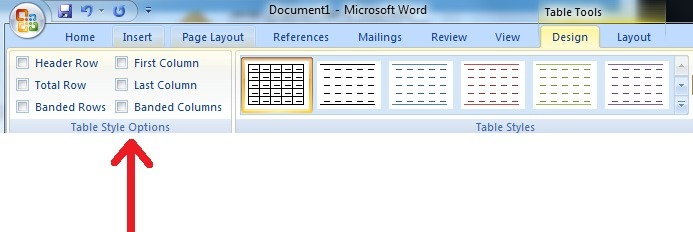 Apa Fungsi Table Style Options Di Microsoft Word Brainly Co Id