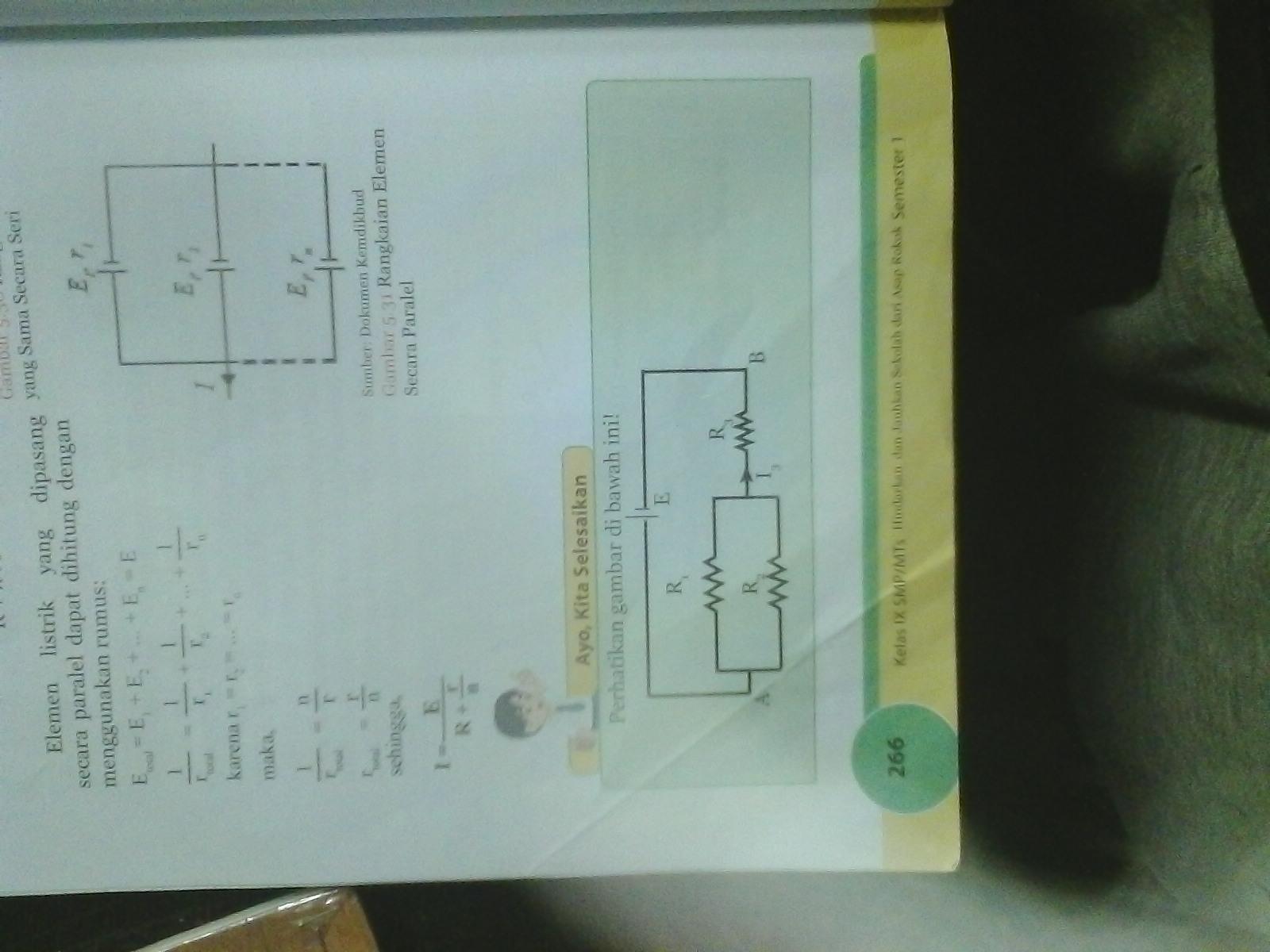 Perhatikan Gambar Di Bawah Ini Jika R1 3 Ohm R2 6ohm R3 2
