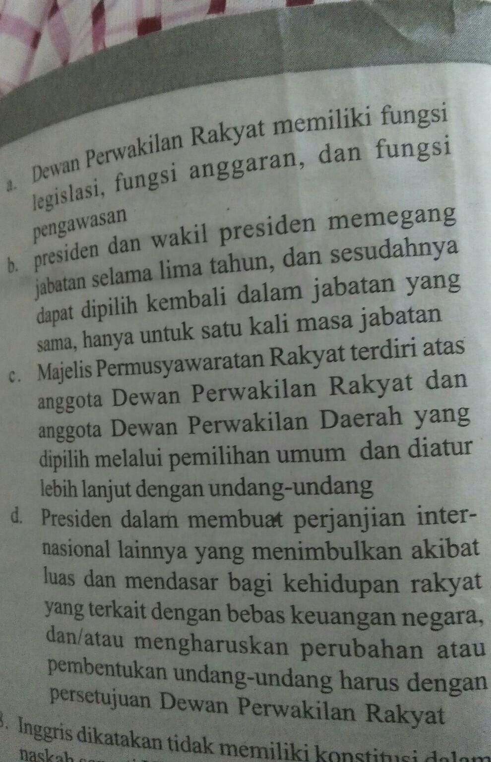 Soal Uud Nri Tahun 1945 Sebagai Konstitusi Negara Indonesia Memiliki Beberapa Fungsi Salah Satunya Brainly Co Id