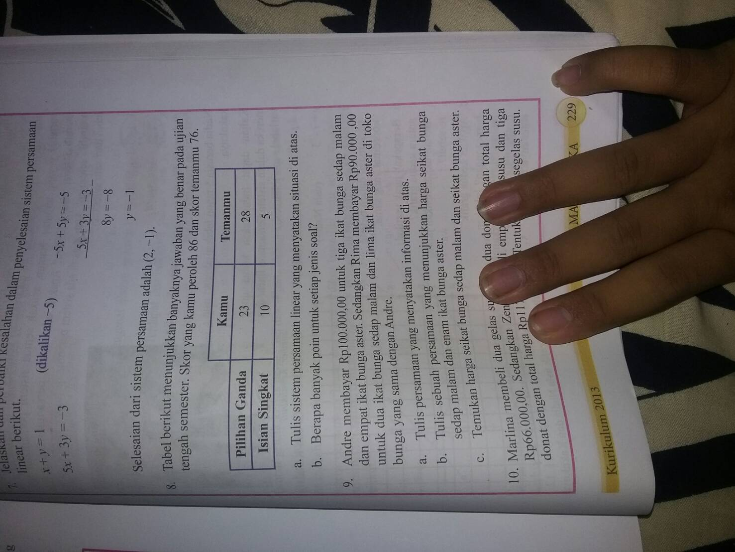Uji Kompetensi Ipa Kelas 8 Halaman 66 Sampai 70