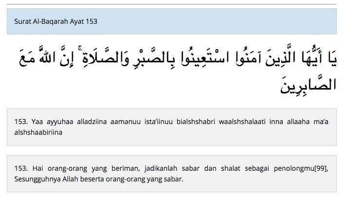 Surah Al Baqarah Ayat 153 Latin Dengan Artinya Brainlycoid