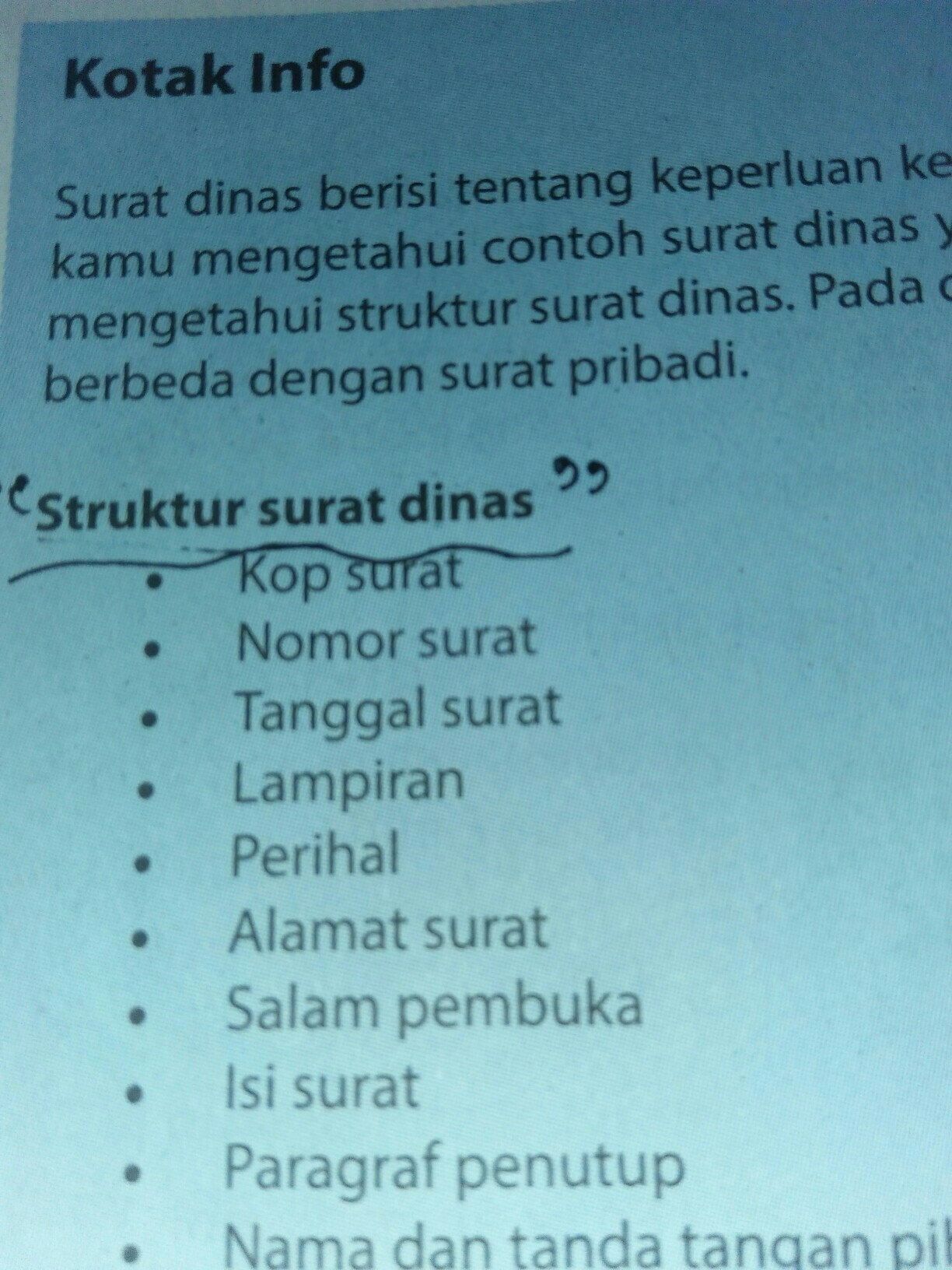 Struktur Surat Pribadi Dan Surat Dinas