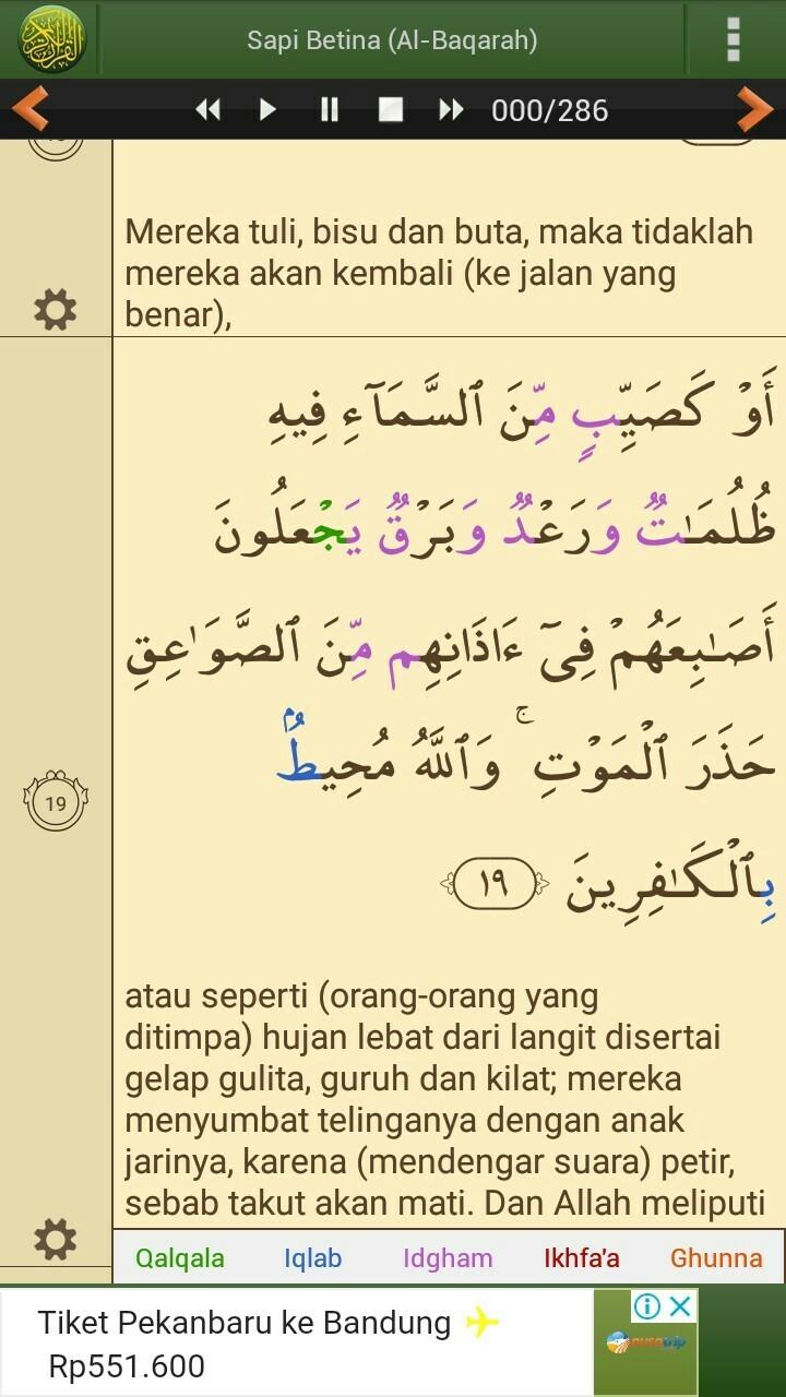 Disajikan Surat Al Baqarah Ayat 19 Dapat Menunjukkan Hukum Hukum