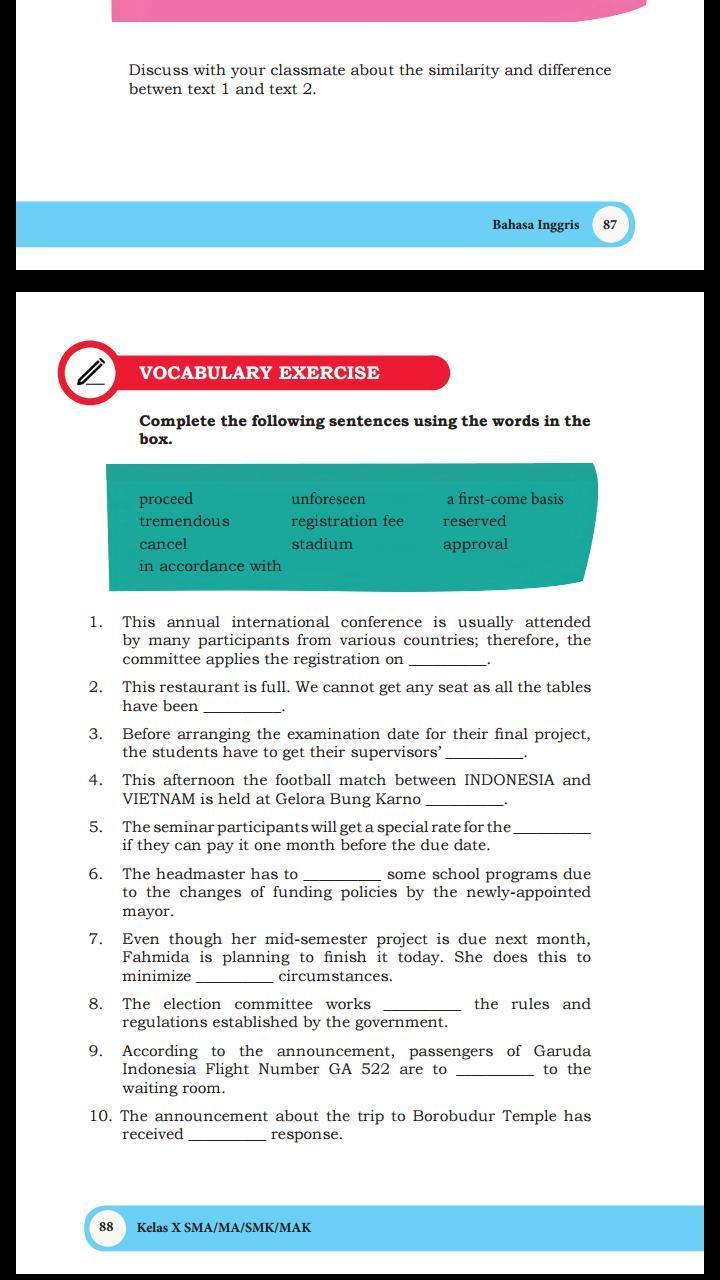 Jawaban Buku Paket Bahasa Inggris Kelas 10 Halaman 88 Tolong Ya Makasih Brainly Co Id