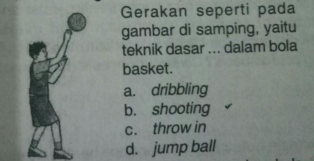 Gerakan Seperti Gambar Disamping Yaitu Teknik Dasar Dalam Bola Basketa Dribblingb Shootingc Brainly Co Id
