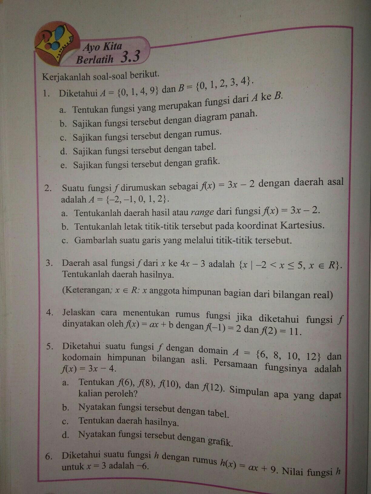 Jawaban Matematika Ayo Kita Berlatih 3 3 Halaman 114 Kelas 8 Brainly Co Id