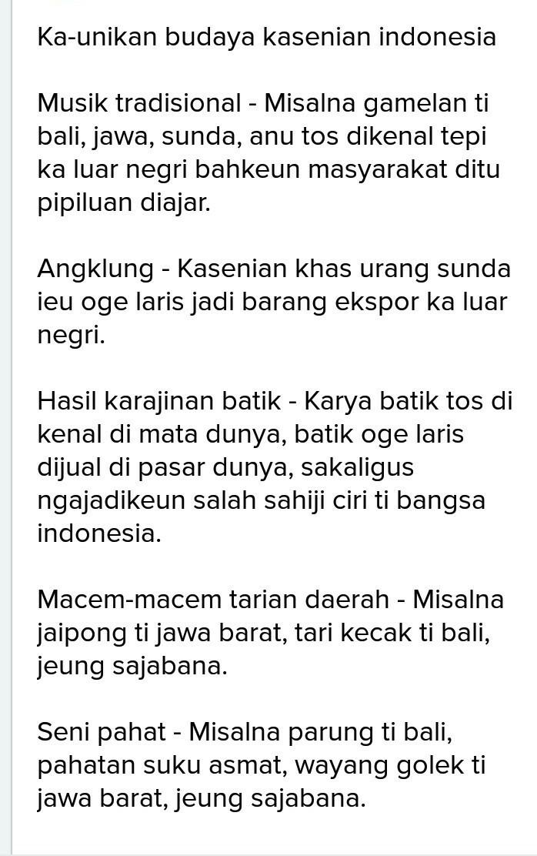 Contoh Artikel Basa Sunda Brainly Co Id