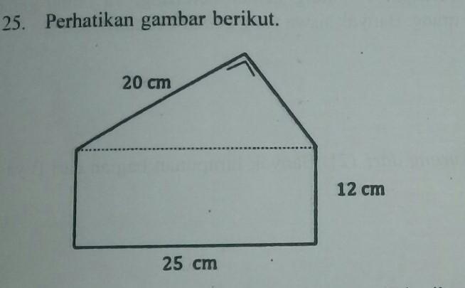 keliling bangun tersebut adalah... a.109 cm b.84 cm c.81 ...