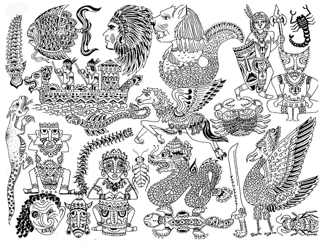 850 Gambar Stilasi Hewan Yang Mudah Terbaik