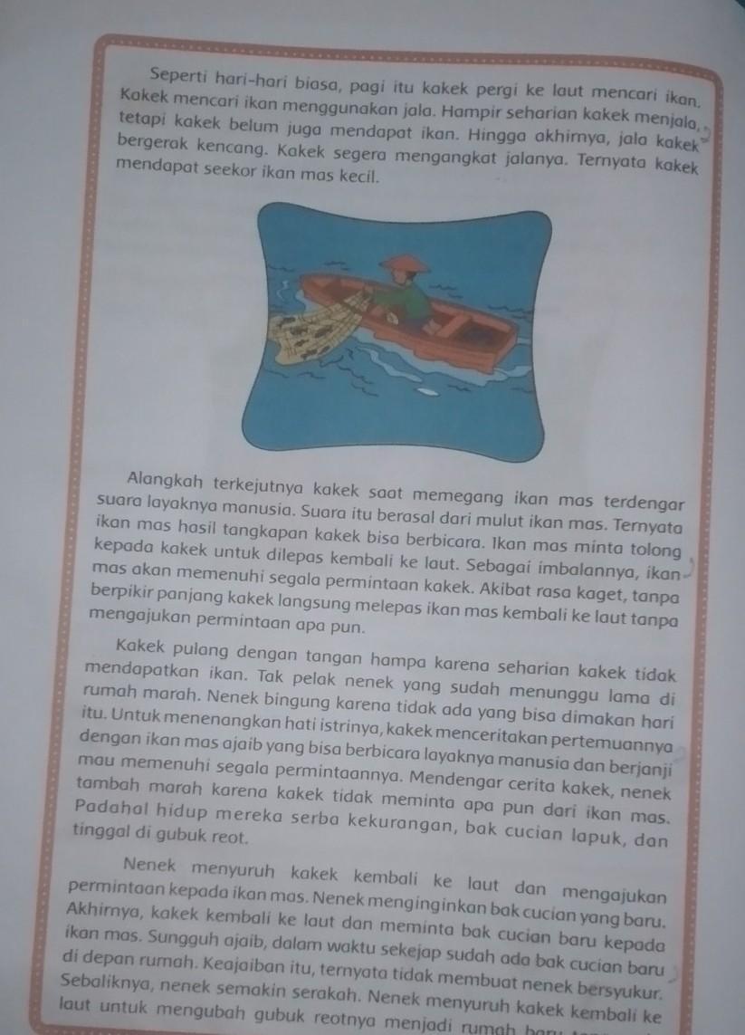 Gambar Nelayan Dan Ikan Mas Pokok Pikiran Tiap Paragraf Dari Cerita Nelayan Dan Ikan Mas Brainly Co Id