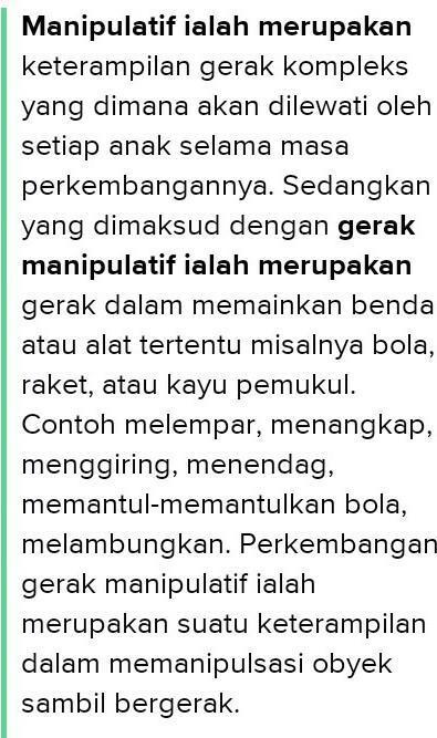 Contoh Gerak Manipulatif Banjarbaru