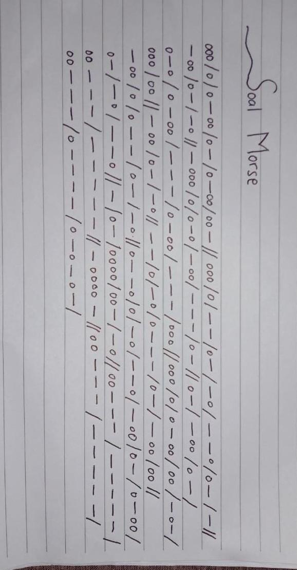 Kak Minta Tolong Banget Terjemahannya Sandi Morse Ini Tolong Jawaban Yang Tepat Mksh Brainly Co Id