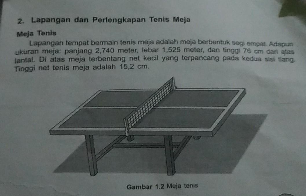 A Tuliskan Sejrah Singkat Permainan Tenis Meja B Aturan Permainan C Gambar Lapangan Beserta Brainly Co Id