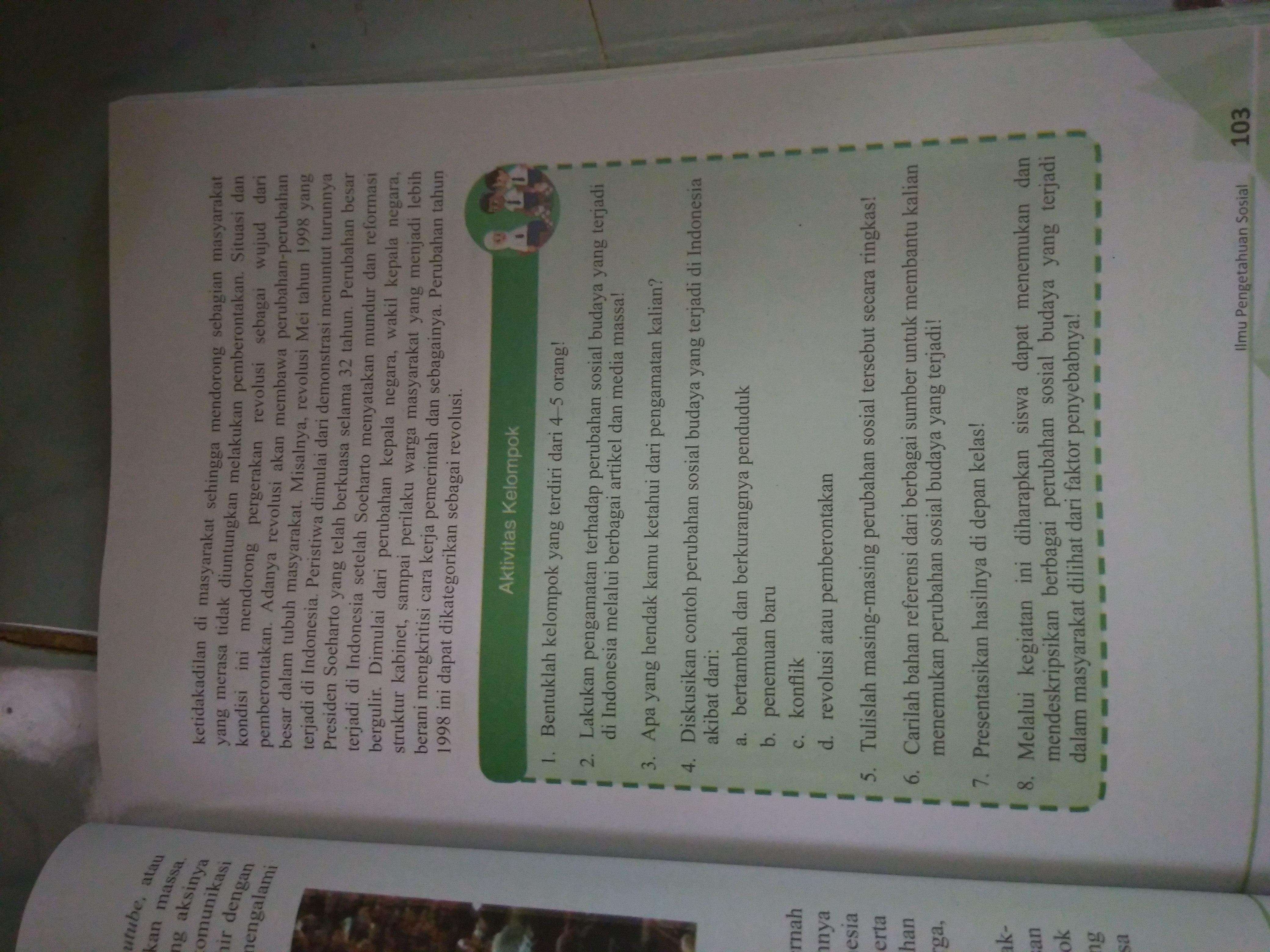 Aktivitas Kelompok Ips Kelas 9 Halaman 103 Brainly Co Id