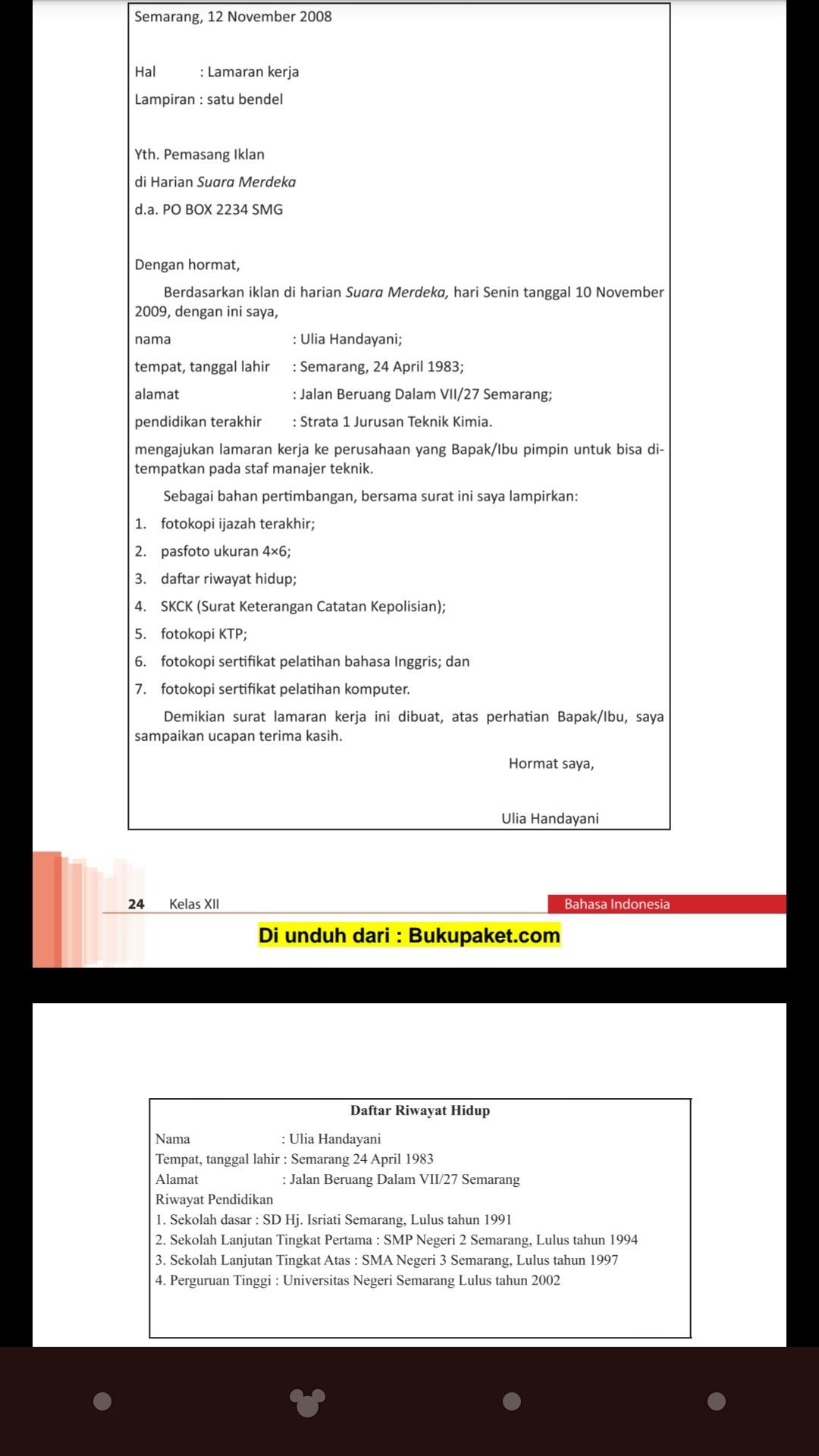 Surat Lamaran Pekerjaan Ke Sekolah