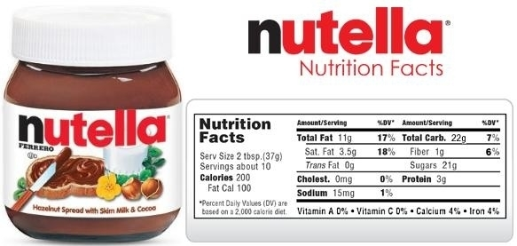 Buat Kan Label Nutella Dengan Bahasa Inggris Brainly Co Id