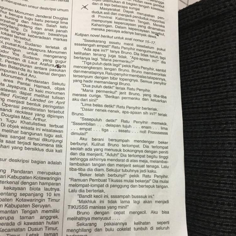 Watak Tokoh Bruno Dalam Kutipan Novel Tersebut Adalah A Pemarah B