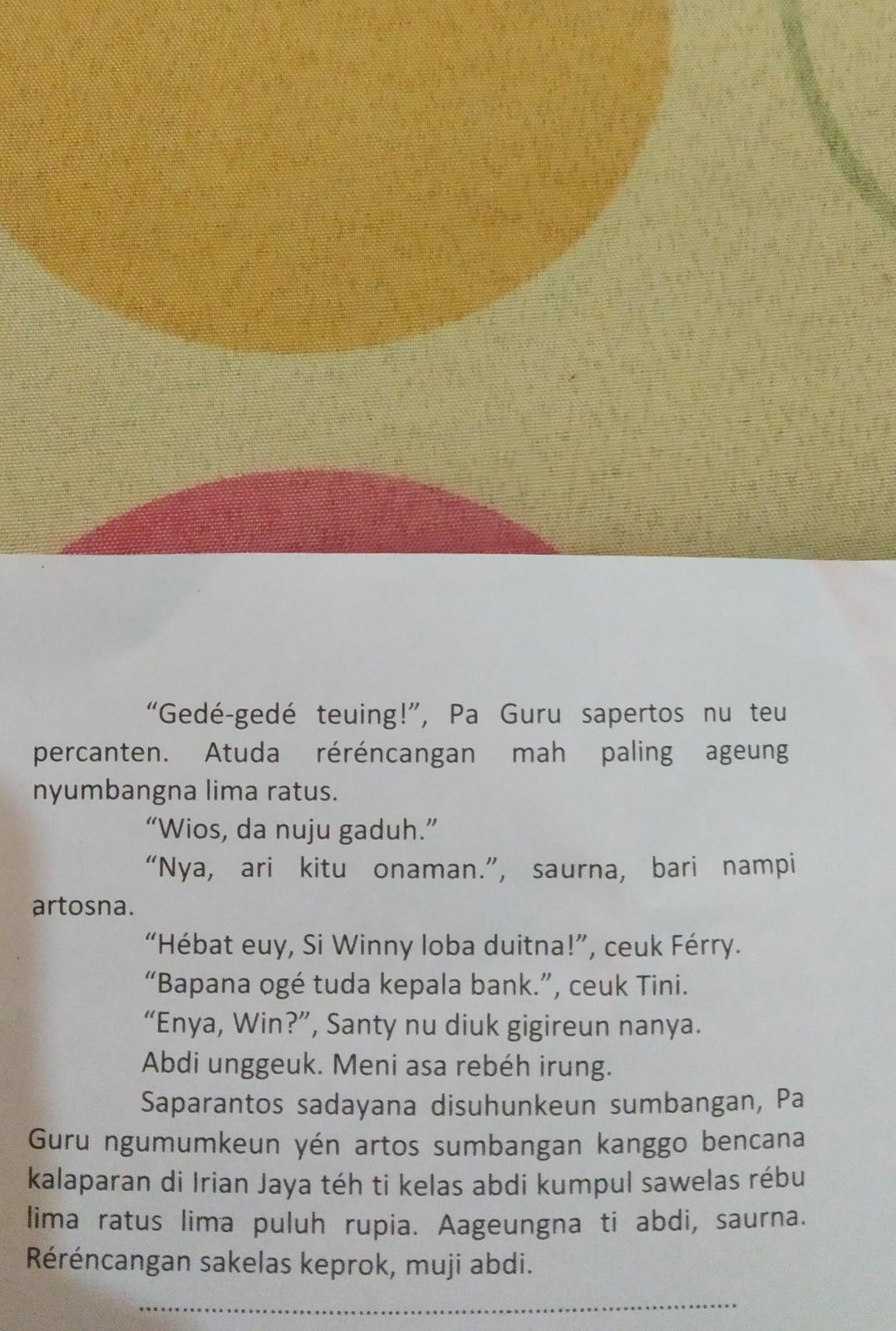 Teks Drama Bahasa Sunda Buat 7 Orang 3 Laki Laki 4