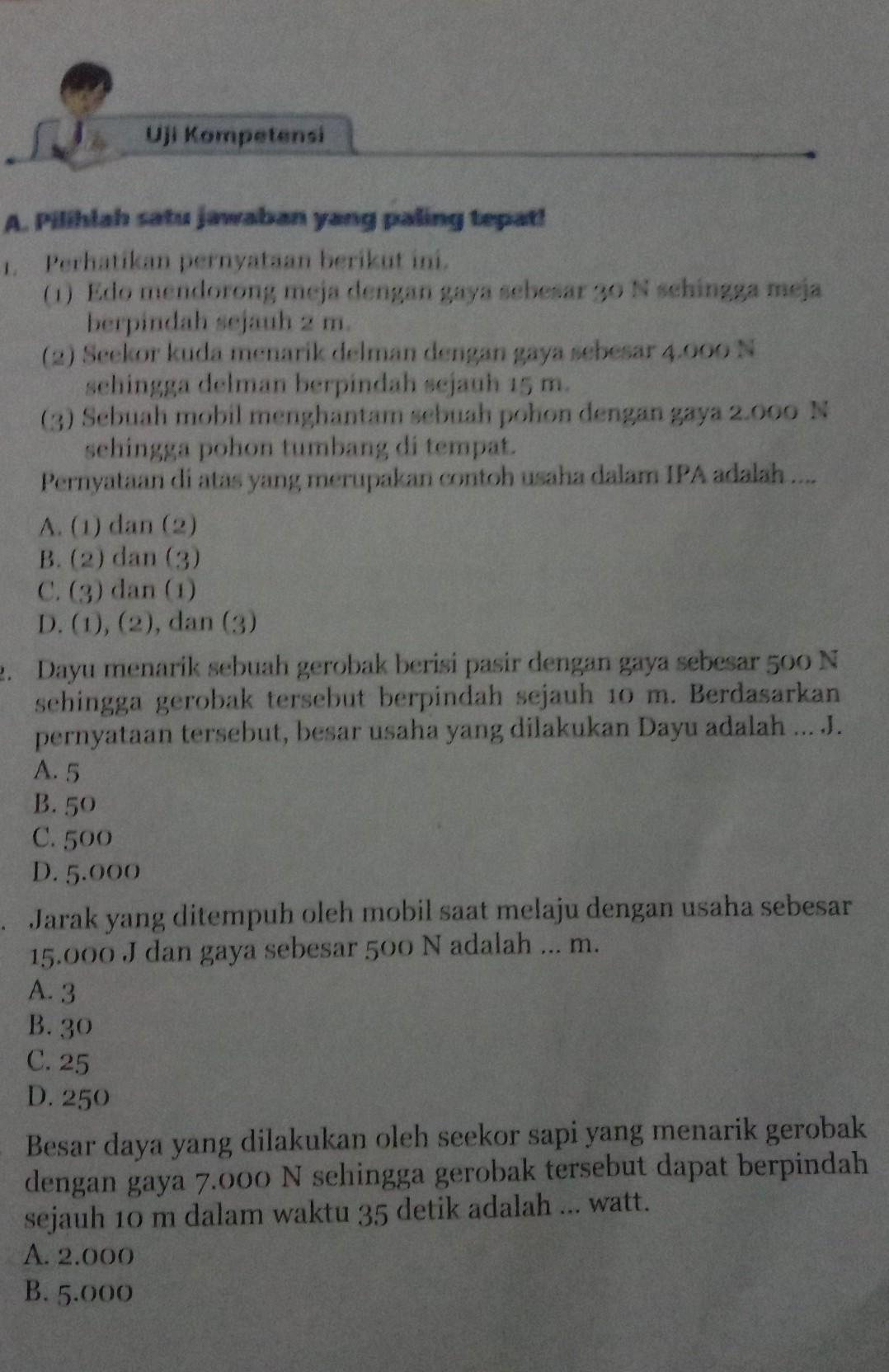 Uji Kompetensi Ipa Kelas 8 Halaman 99 - Revisi Sekolah