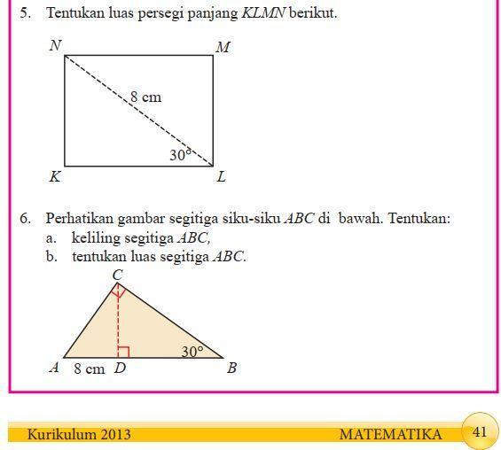 Kunci Jawaban Paket Matematika Kelas 8 Semester 2 Halaman 41 Nomer 5 Dan 6 Brainly Co Id