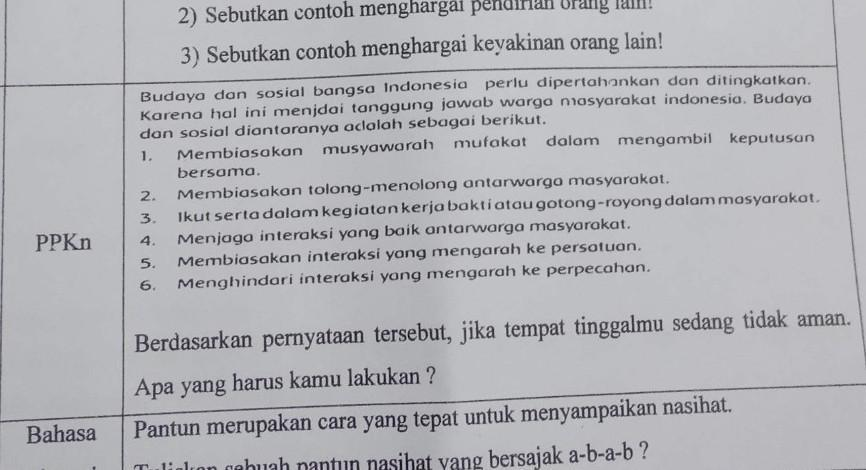 Tolong Bantu Jawab Jangan Ngasal Yang Ppkn Brainly Co Id