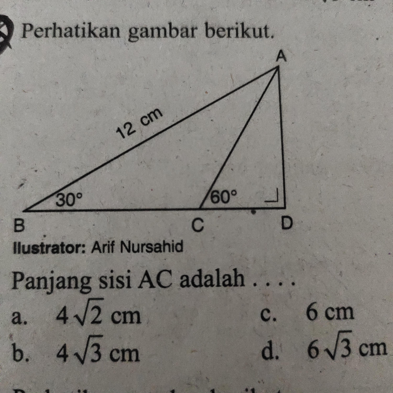 34+ Perhatikan gambar berikut panjang sisi ac adalah information