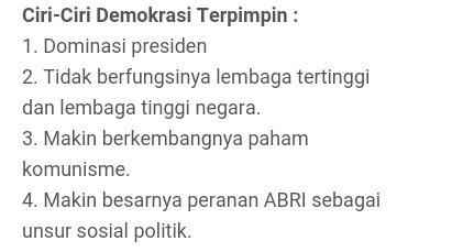 2 3 Ciri Ciri Politik Pada Masa Demokrasi Liberal Amp Terpimpin