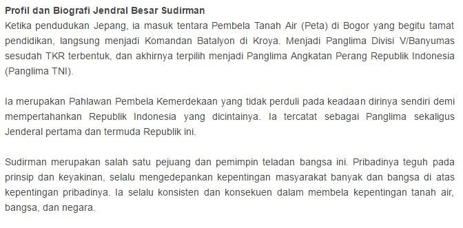Identifikasi Pola Penyajian Pada Teks Biografi Jenderal Sudirman