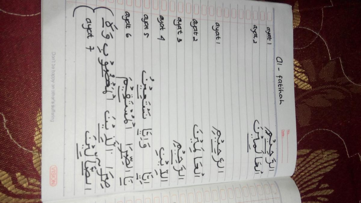Contoh Bacaan Mad Dengan Alif Pada Surat Al Fatihah Dan Al