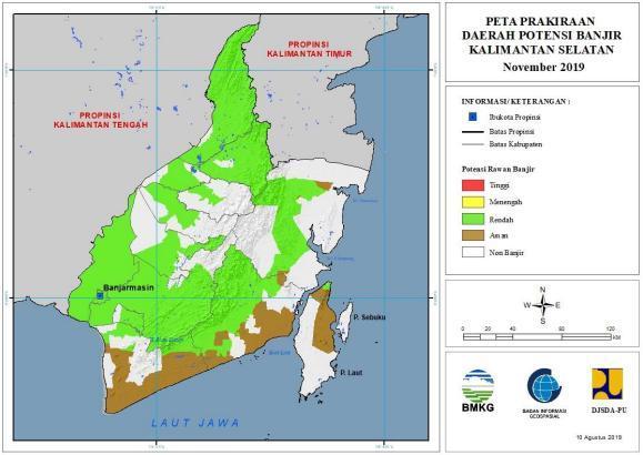 gambar peta rawan banjir di kalimantan selatan brainly co id gambar peta rawan banjir di kalimantan