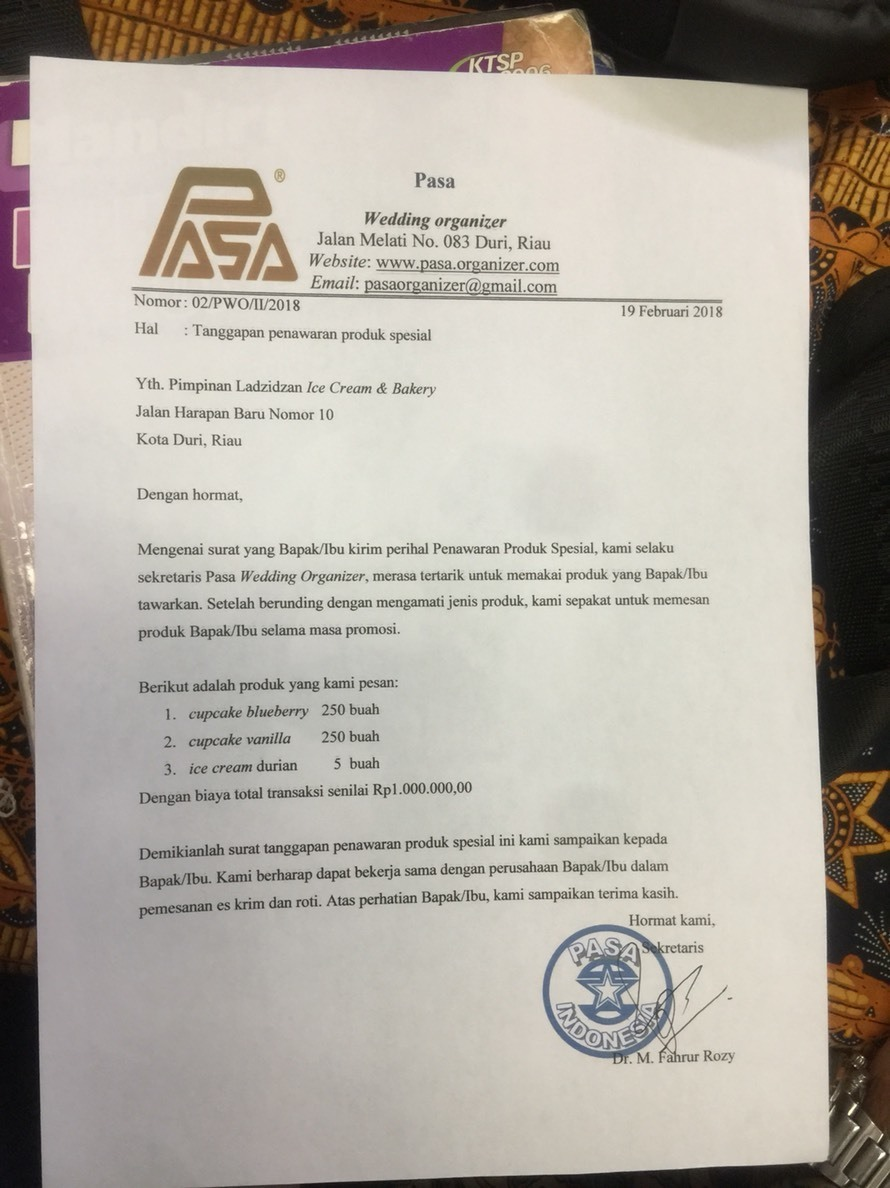 Contoh Surat Penawaran Dan Balasannya