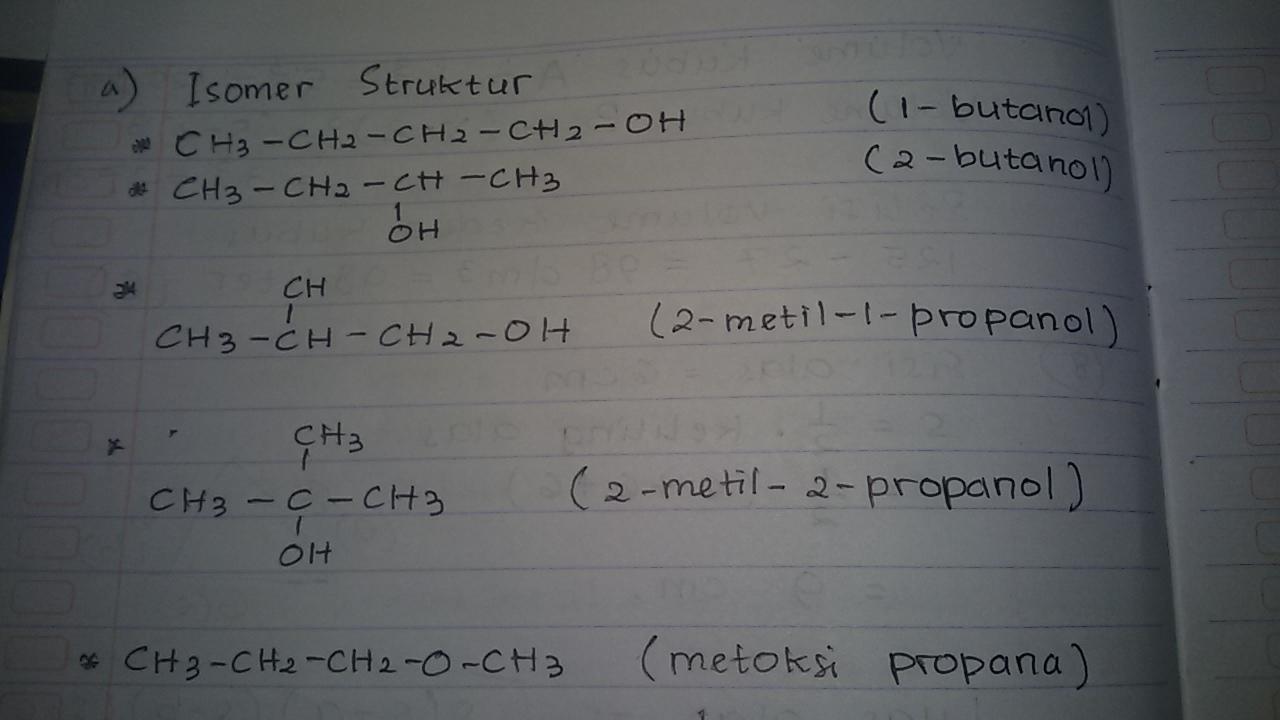 Diketahui Rumus Molekul C4h9oh A Buatlah Rumus Struktur Serta Nama Senyawa Yang Merupakan Isomer Brainly Co Id