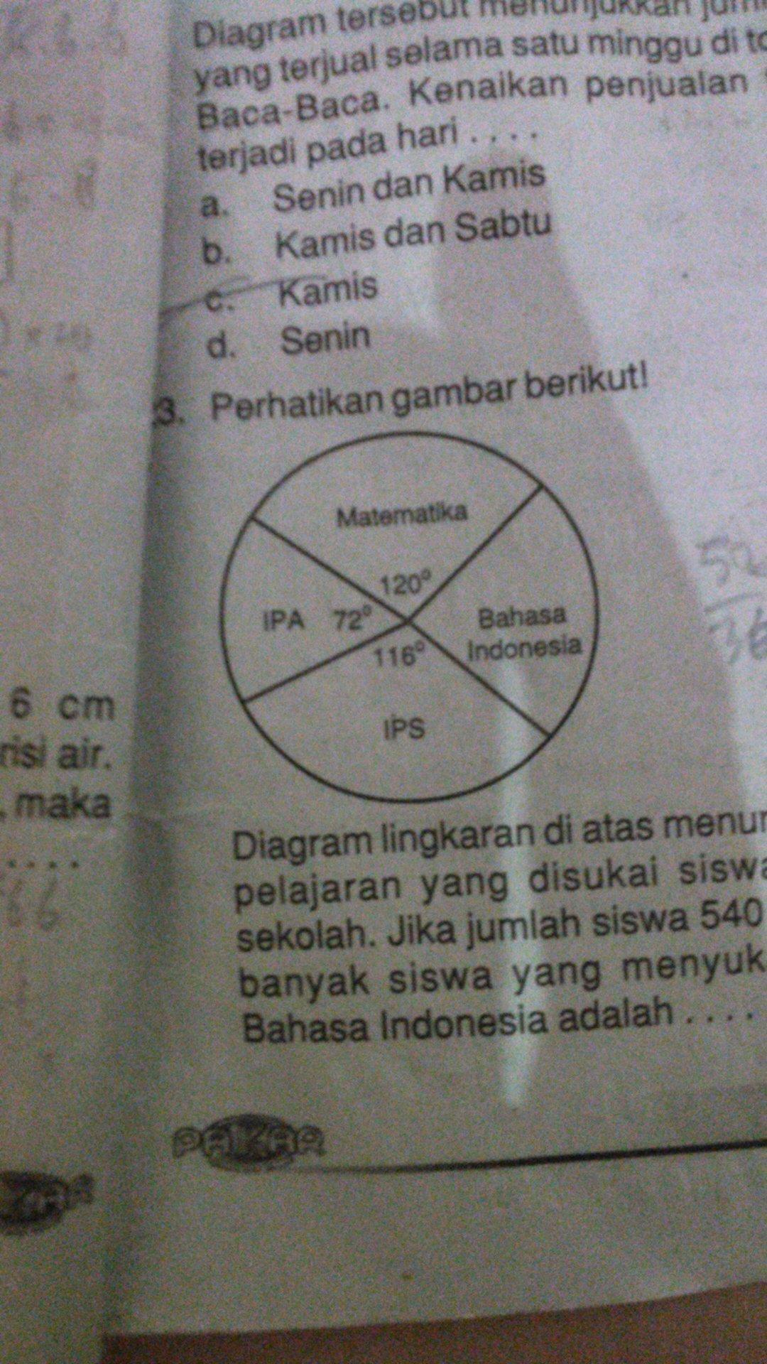 Diagram lingkaran diatas menunjukan mata pelajaran yang disukai diagram lingkaran diatas menunjukan mata pelajaran yang disukai siswa di sebuah sekolah jika jumlah siswa 540 orang maka banyak siswa yang menyukai ccuart Gallery