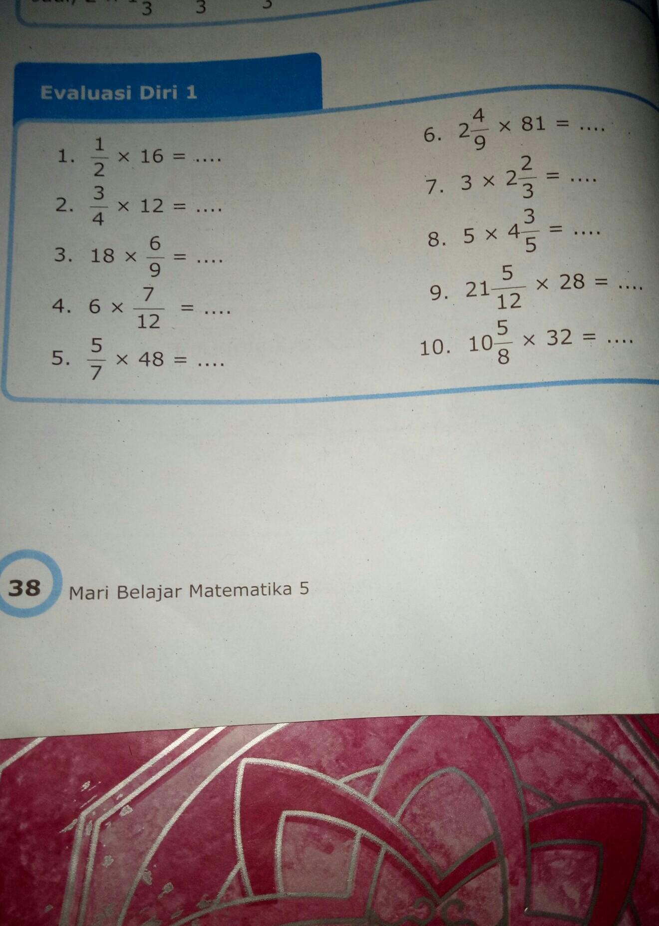 Mtk Jawaban Evaluasi Diri 3 Matematika Kelas 5 Guru Paud