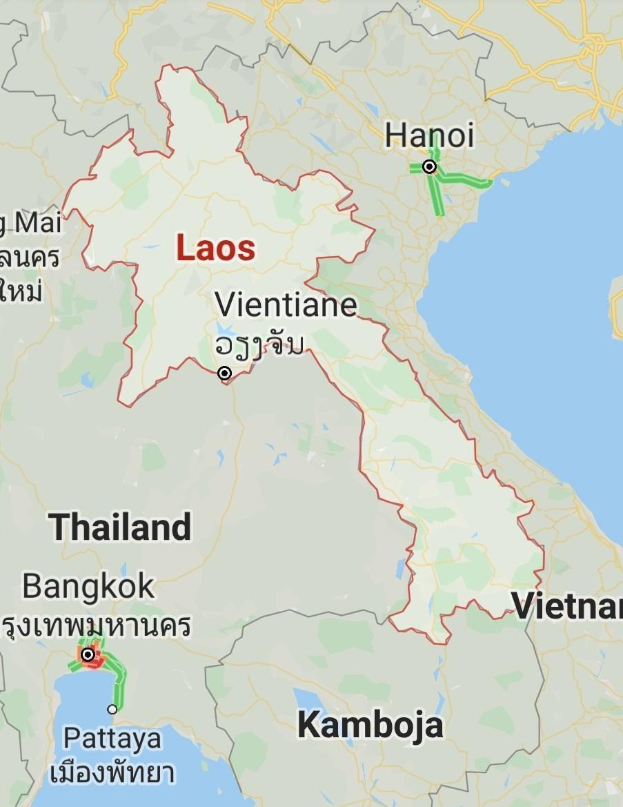 50 Gambar Peta Negara Laos