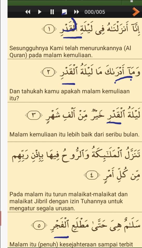 Contoh Bacaan Qalqalah Sugro Dalam Surat Al Qadar Brainly