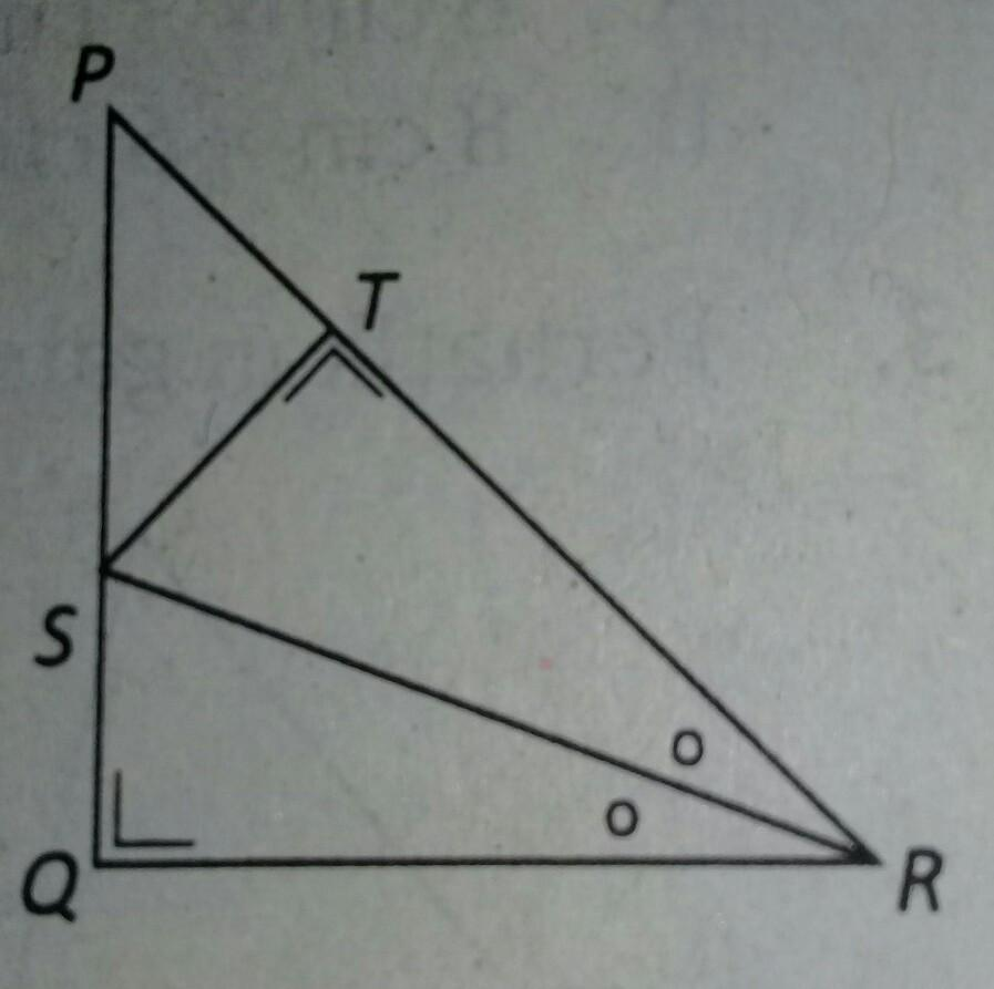 segitiga PQRS merupakan segitiga siku siku sama kaki. Jika panjang ...