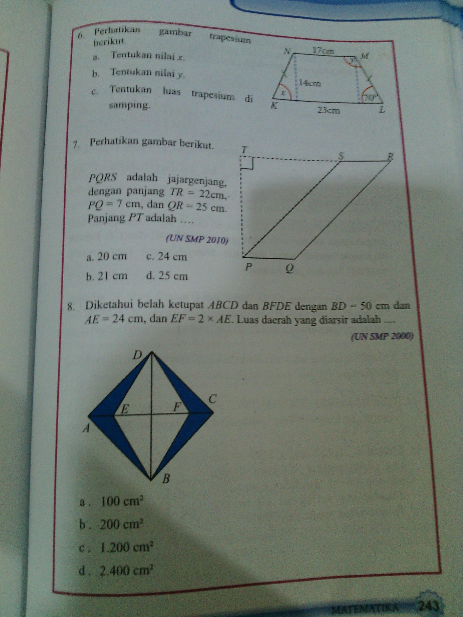 Jawaban Soal Mtk Kelas 7 Hal 242 244 Ayo Kita Berlatih 8 4 Dari No 6 15 Aja Brainly Co Id