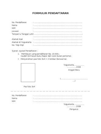 Contoh Formulir Pendaftaran Brainly Co Id