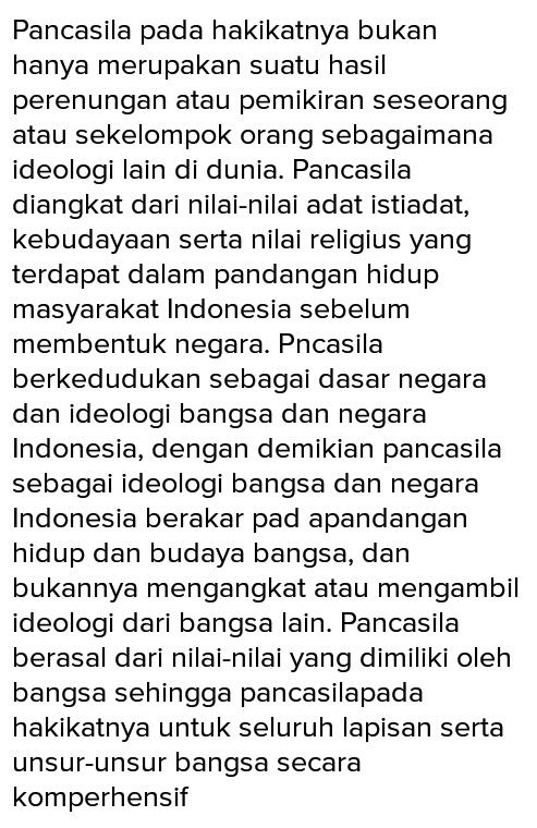 Apa Latar Belakang Indonesia Memilih Pancasila Sebagai Dasar Negara Brainly Co Id