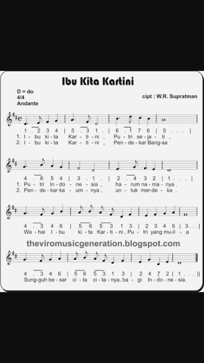 Not Angka Pianika Lagu Ibu Kita Kartini Dengan Kunci Nada B Tolong Dijawab Ya Terimakasih Brainly Co Id