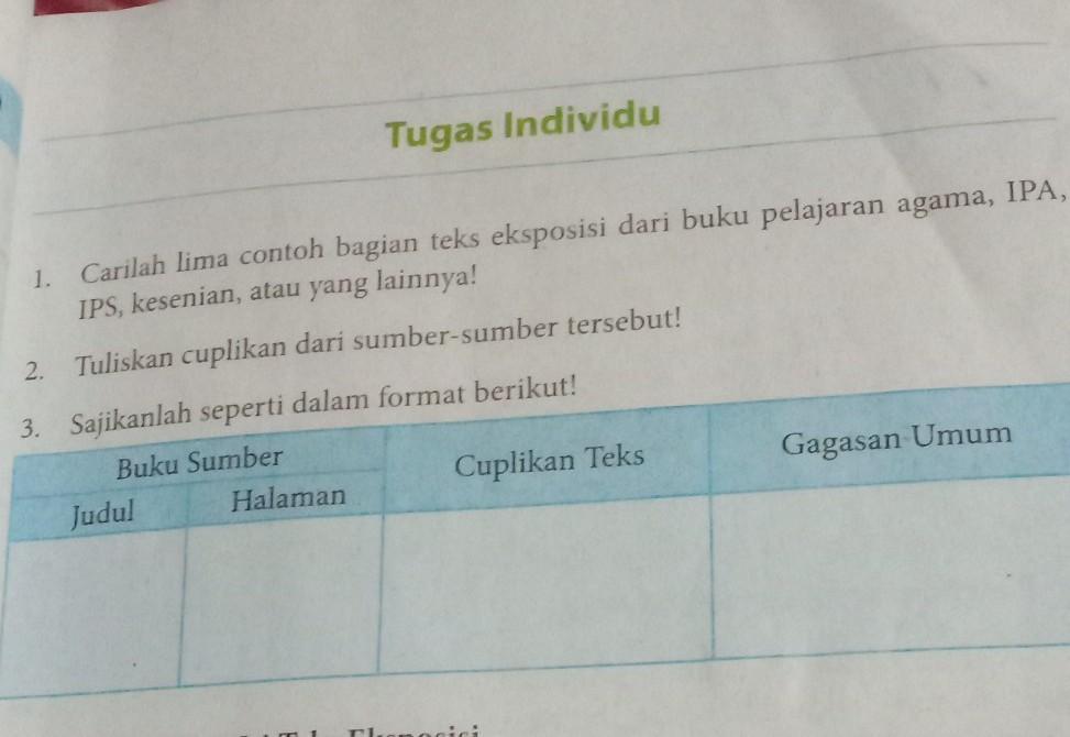 Tugas Individu Bahasa Indonesia Kelas 8 Halaman 67 Ilmusosial Id