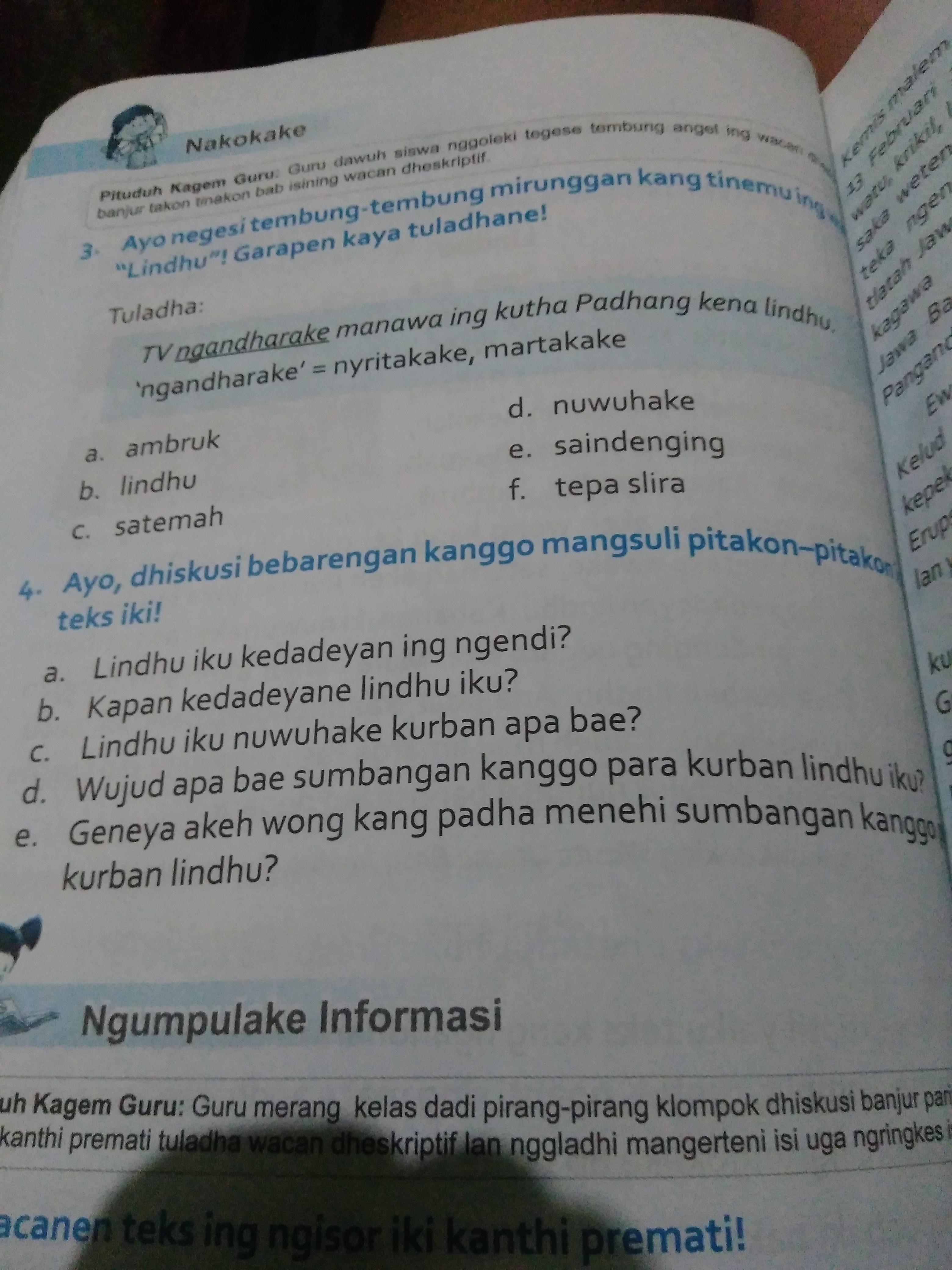 Kunci Jawaban Bahasa Jawa Kelas 5 Halaman 32 Tolong Jawab Ya Brainly Co Id